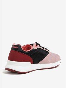 Pantofi sport negru&roz pentru femei - Le Coq Sportif Omega Mesh