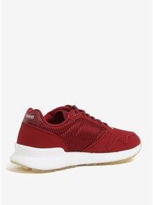 Pantofi sport bordo pentru femei - Le Coq Sportif Omega Sparkly