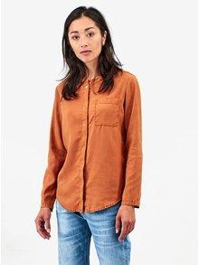 Oranžová dámská košile s dlouhým rukávem Kings of Indigo Taja no Collar