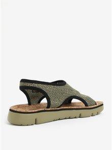 Zelené melírované dámske sandále Camper Oruga