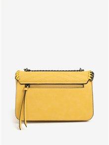 Žltá kabelka s retiazkou a kovovými detailmi LYDC