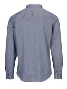 Camasa bleu cu print discret din bumbac - Jack & Jones Premium Samson