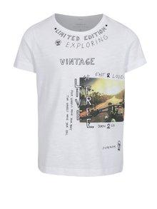 Biele chlapčenské tričko s potlačou name it Hector