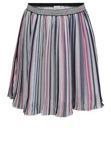 Modro-krémová pruhovaná dievčenská sukňa name it Hainbow