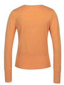 Oranžový krátky kardigán Yest