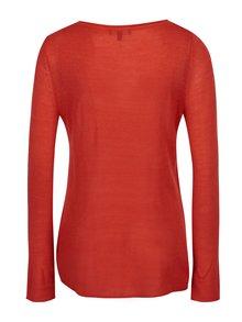 Červený tenký sveter Yest