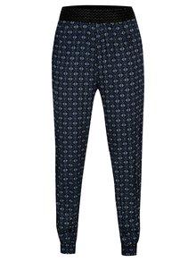 Pantaloni bleumarin cu print oriental - Madonna