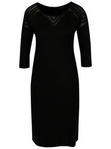 Černé šaty s 3/4 rukávem Yest