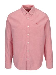 Camasa roz din bumbac cu guler button down - Original Penguin