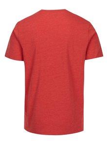 Oranžové tričko s potlačou Original Penguin