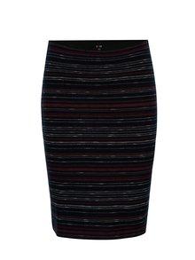 Modrá vzorovaná pouzdrová sukně Yest