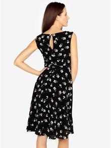Rochie clos neagra cu print floral  M&Co