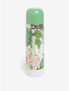 Termos verde & alb cu print floral & Moomin - Disaster Moomin