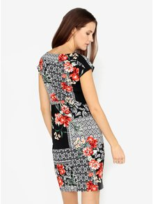 Čierne vzorované šaty s vreckami M&Co