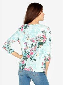 Bluza verde mentol cu maneci 3/4 si print floral M&Co