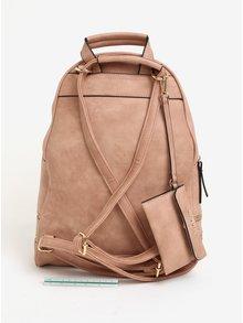 Ružový koženkový batoh Bessie London