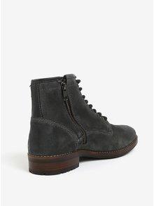 Tmavosivé semišové členkové topánky Burton Menswear London