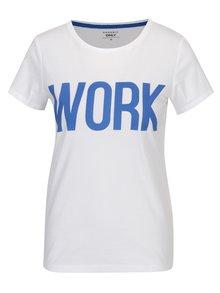 Biele tričko s potlačou ONLY RIVA Work