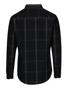 Camasa neagra in carouri Burton Menswear London