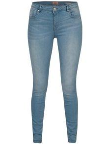 Světle modré regular push up skinny fit džíny ONLY Allan