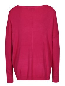 Tmavě růžový lehký oversize svetr s lodičkovým výstřihem Blendshe Shana