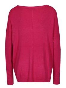 Tmavoružový tenký oversize sveter s lodičkovým výstrihom Blendshe Shana