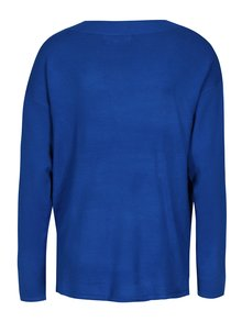 Tmavomodrý tenký oversize sveter s véčkovým výstrihom Blendshe Shana