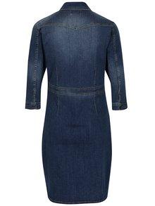Modré rifľové šaty s 3/4 rukávom Blendshe Panel