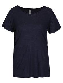 Tricou bleumarin cu insertie de dantela Blenshe Bianca