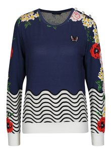 Bluza albastra cu broderie - Desigual All By Myself