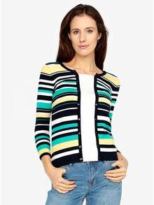 Modro-krémový pruhovaný sveter s ozdobnými gombíkmi M&Co
