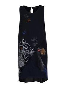Modré vzorované šaty bez rukávů Desigual Natan