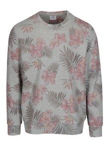 Sivá kvetovaná mikina Burton Menswear London