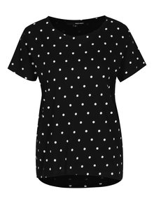 Černo-bílé puntíkované tričko TALLY WEiJL