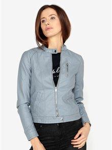 Jacheta albastra din piele sintetica VERO MODA California