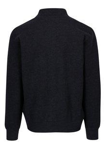 Bluza bleumarin cu fermoar si guler cu snur pentru barbati s.Oliver