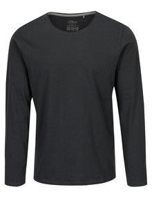 Tmavě šedé pánské slim fit basic tričko s.Oliver