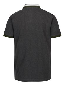 Tmavě šedé pánské slim fit žíhané polo tričko s.Oliver