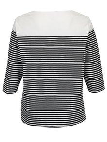 Bluza bleumarin&alb in dungi si maneci 3/4 Ulla Popken