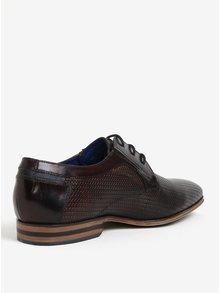 Pantofi maro inchis din piele - bugatti Mosario