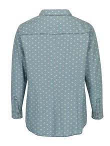 Camasa din denim bleu cu print inimi  Ulla Popken
