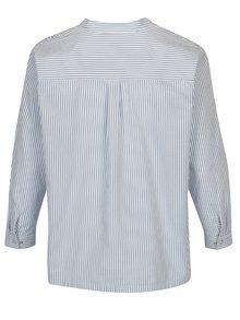 Camasa bleu in dungi cu guler tunica Ulla Popken