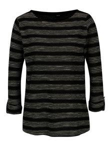 Bluza neagra cu model geometric si maneci 3/4 M&Co