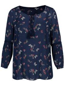 Bluza albastra cu print si franjuri M&Co
