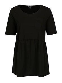 Tricou negru cu pliuri in talie  Ulla Popken