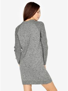 Sivé melírované svetrové šaty s dlhým rukávom s.Oliver