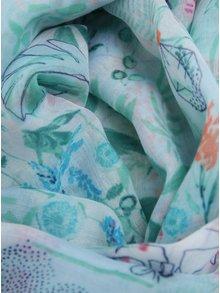 Esarfa verde&crem cu print - Tom Joule Wensley