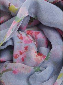 Esarfa albastru deschis cu print roz - Tom Joule Wensley