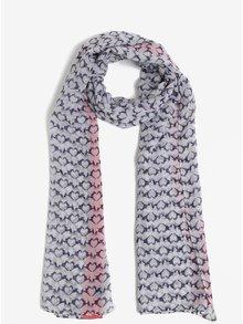 Modro-krémový vzorovaný šátek Tom Joule Wensley