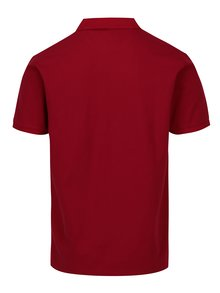 Tricou polo rosu cu broderie - Hackett London New Classic